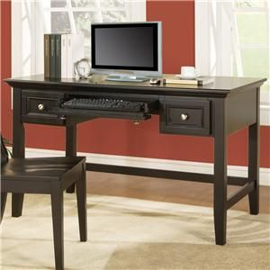 Oslo Transitional 2 Drawer Writing Desk With Keyboard Tray