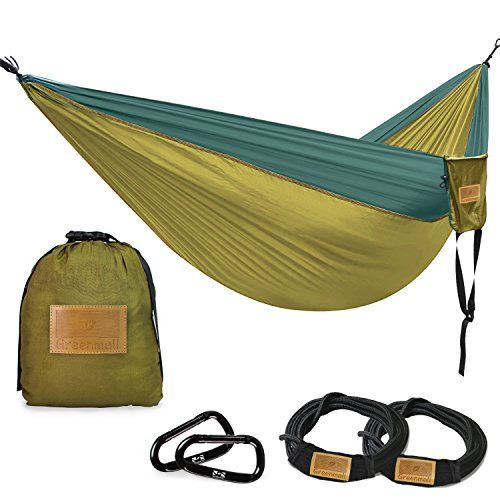 greenmall large size double camping hammock premium portable lightweight parachute nylon hammock perfect for greenmall large size double camping hammock premium portable      rh   pinterest