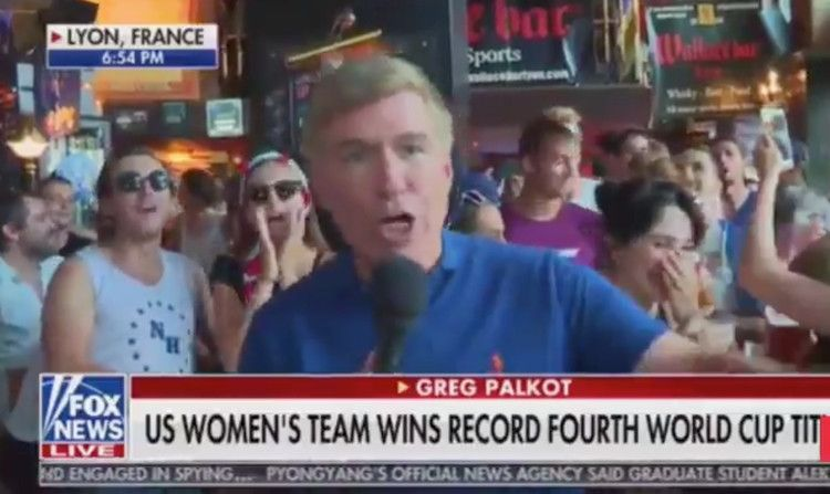USWNT fans chant 'F Trump' on live TV after World Cup
