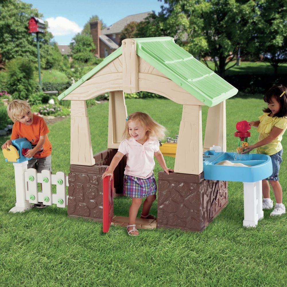 Little Tikes Deluxe Home Garden Playhouse Mailbox Kitchen Sandbox ...