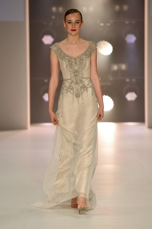 Art Deco vintage inspired Gwendolynne \'Elke\' Wedding Dress at ...