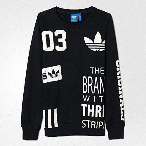 Adidas Originals White Logos Sweatshirt Ao0537 for men