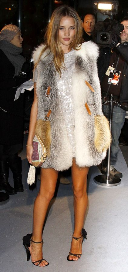 rosie in fur, this is a fox vest by LV