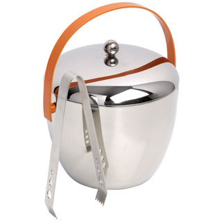 @Overstock - This Royal Doulton ice bucket captures the relaxed 1950's style of 'popping in for a drink' and celebrates the best of British wit and London shapes. This orange stainless steel ice bucket adds a fun, retro touch, creating the perfect party atmosphere.  http://www.overstock.com/Home-Garden/Royal-Doulton-Pop-In-For-Drinks-Stainless-Steel-Ice-Bucket-with-Tongs/7440839/product.html?CID=214117 $74.99