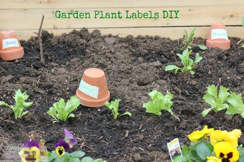 Diy Garden Plant Labels Garden Plant Markers Garden Crafts