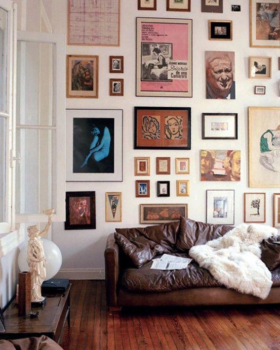 mur de cadres 26jpf Deco cadres Pinterest Salons, Interiors