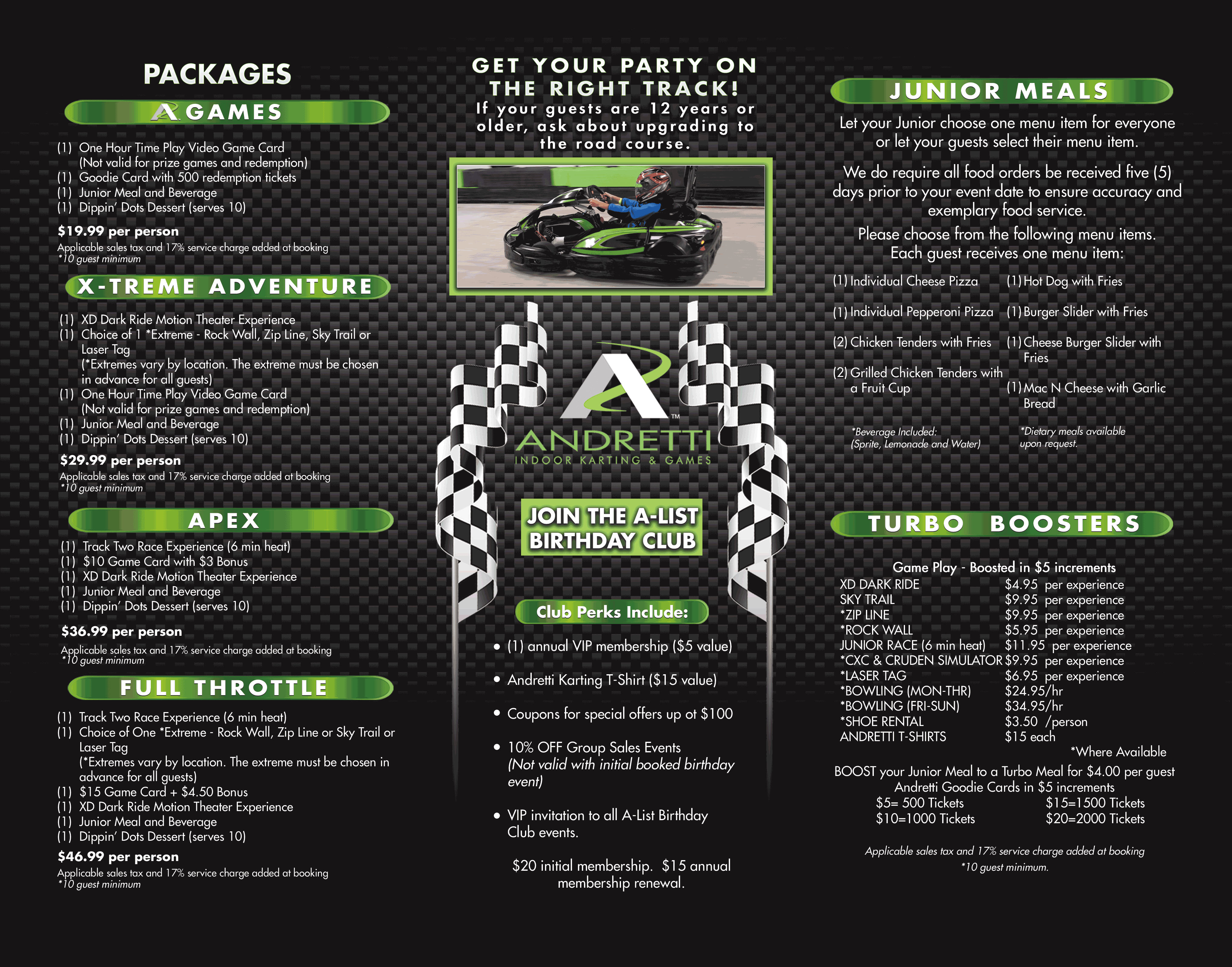 Andretti Karting Packages Start At 200 For 10 People Birthday Party Locations Game Food Kids Birthday
