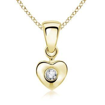 Angara Diamond Angel Heart Pendant sx5v70Goy