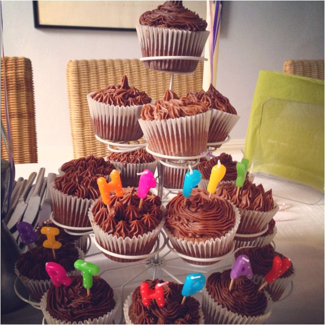 Happy Birthday cupcakes. A Charlotte Lee special