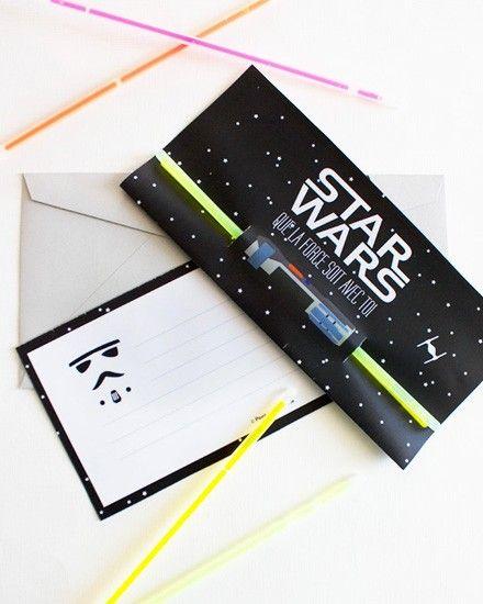 des invitations star wars imprimer carte invitation anniversaireanniversaire - Carte Anniversaire Star Wars Imprimer