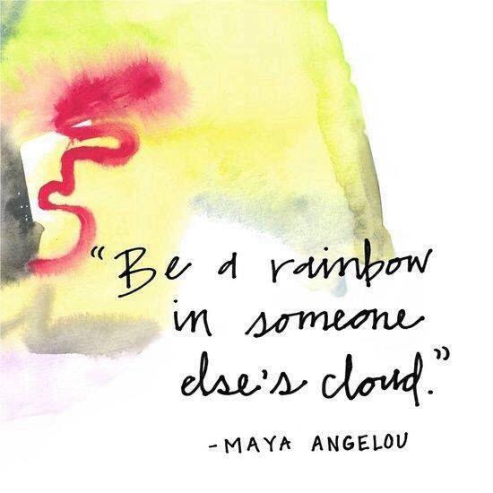 Be a rainbow!  #fearless