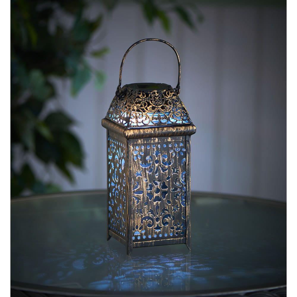Wilko Solar Lantern Moroccan Metal