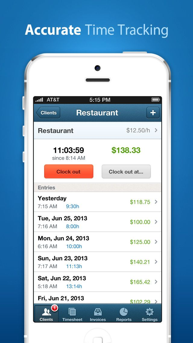 Hours Keeper Pro Timesheet Tracking Billing Ios Apps