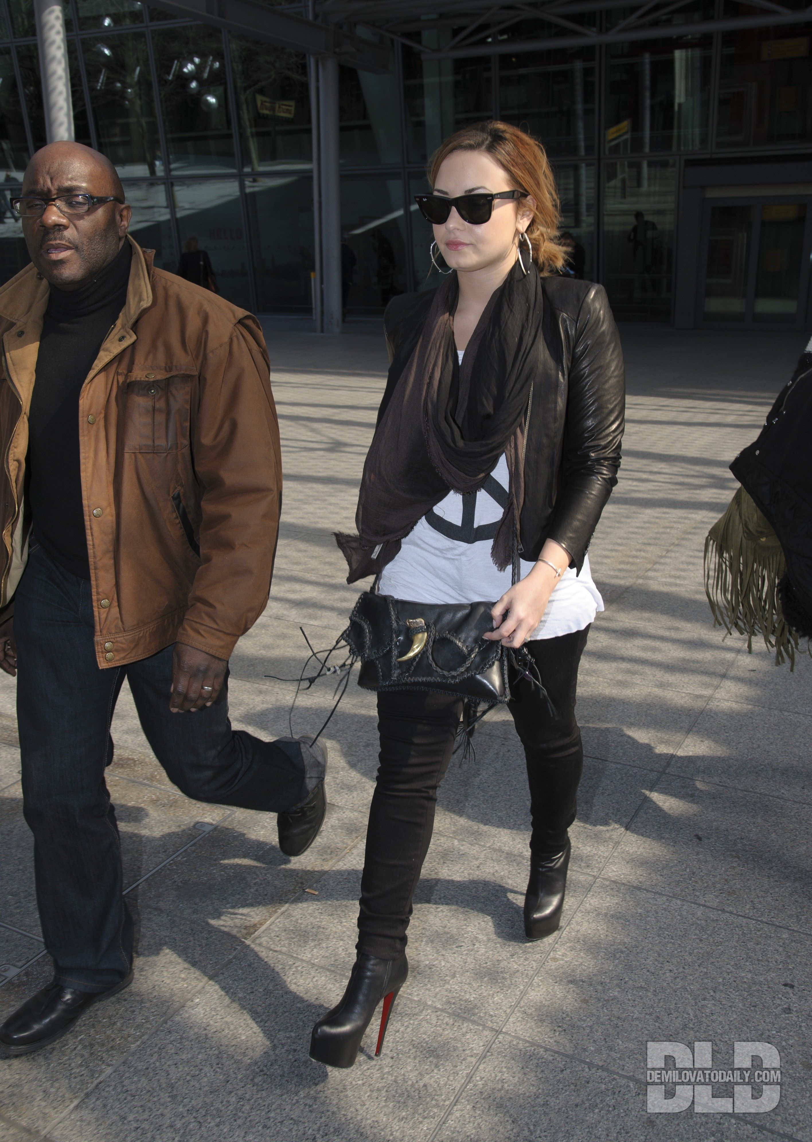 Demi Lovato wears Christian Louboutin Daf Booty 160mm ankle boots ...