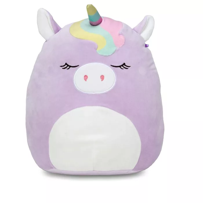Squishmallows 20 Inch Plush Sylvia The Purple Unicorn W Rainbow Bangs Purple Unicorn Pillow Pals Animal Pillows