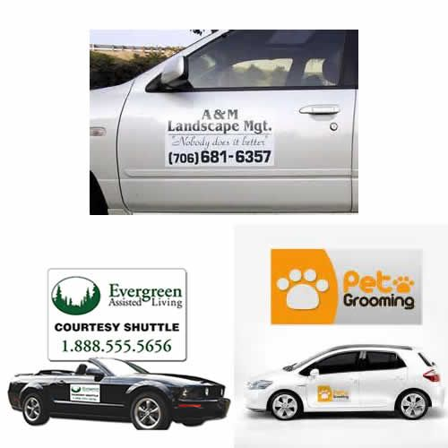 Customized Automobile Sign Magnets Automobile Magnetic Car