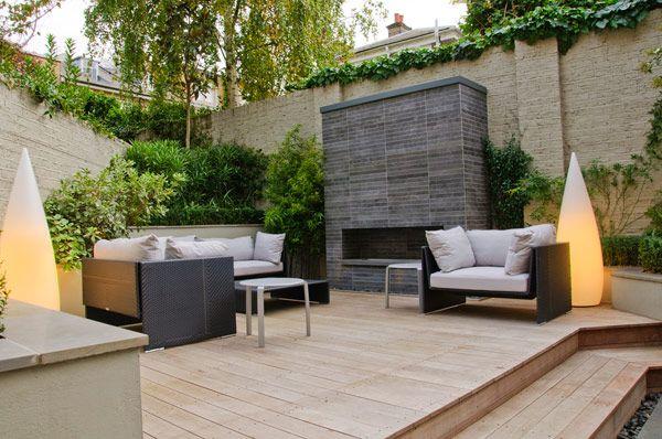 Shh Creates Cool And Classic Interior For London Townhouse Contemporary Garden Design Patio Design Small Patio Design