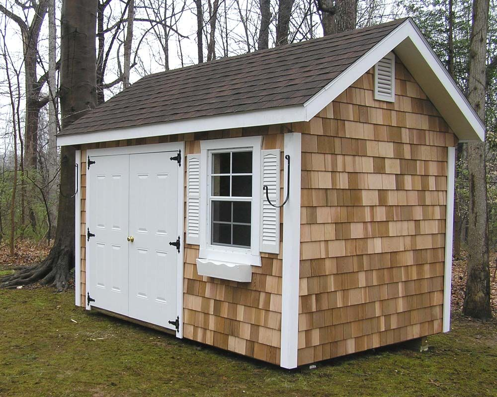 shed mike sheds garages signature quaker series nj traditional clay garage amish x