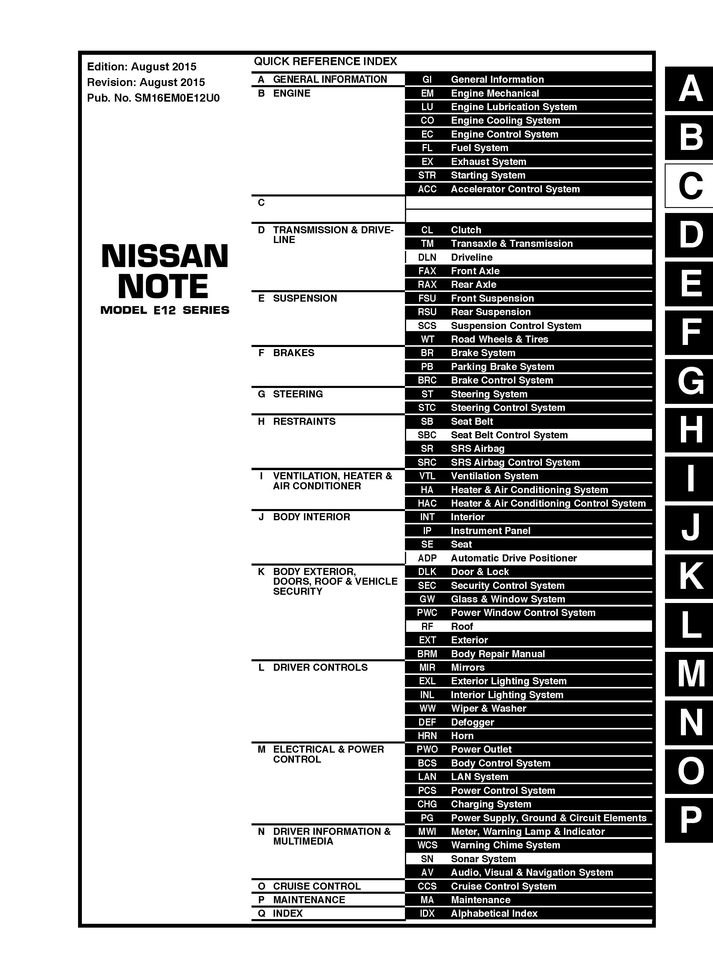 2016 nissan versa note model e12 series oem service and repair rh pinterest com sonoline versa plus service manual nissan versa service manual 2008