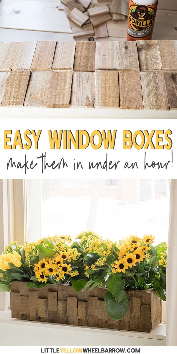 How To Build A Pretty Wooden Planter Farmhouse Style