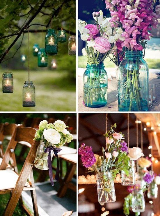 Diy Rustikal Country Hochzeit Mit Dekoriete Weckglaser Pink Blumen
