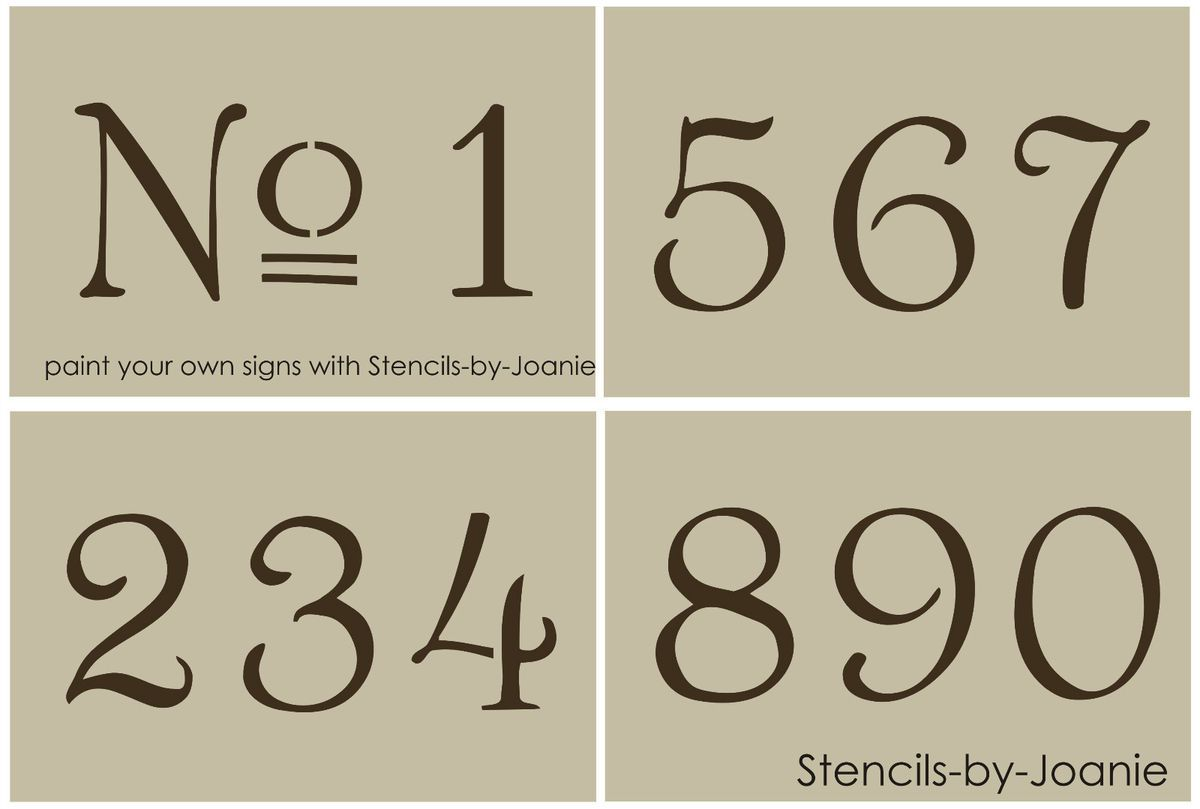 Numbers Stencil French Numbers Stencil Craft Stencil Vintage French Numbers