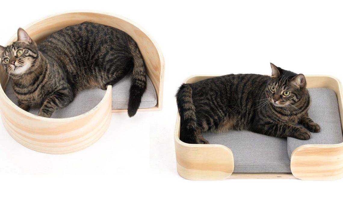 Woodencat Modern Cat Beds From Pidan Studio Hauspanther Modern Cat Bed Cat Bed Modern Cat