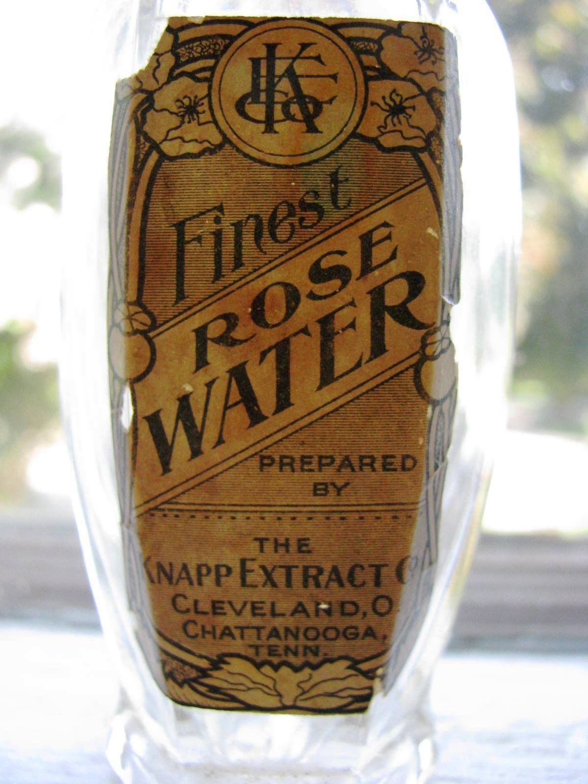 Finest ROSE WATER PREPARED BY THE KNAPP EXTRACT CO | CLEVELAND, OHION CHATTANOOGA TENN.