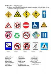 english teaching worksheets road signs road signs pinterest worksheets english and life. Black Bedroom Furniture Sets. Home Design Ideas