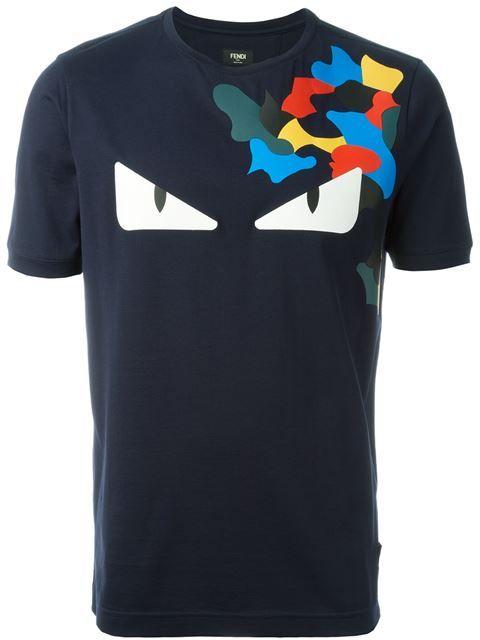 T-shirt à imprimé Bag BugsFendi dTk0k