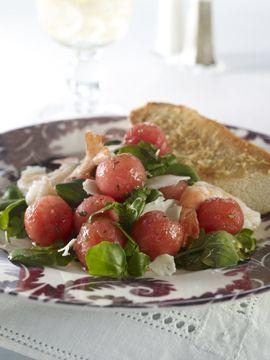 Shrimp and Watermelon Watercress Salad