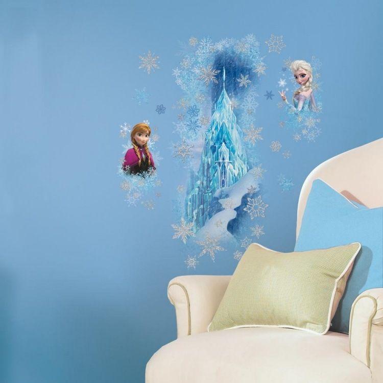 das Schloss der Eiskönigin Elsa Wandtattoo im Kinderzimmer ...
