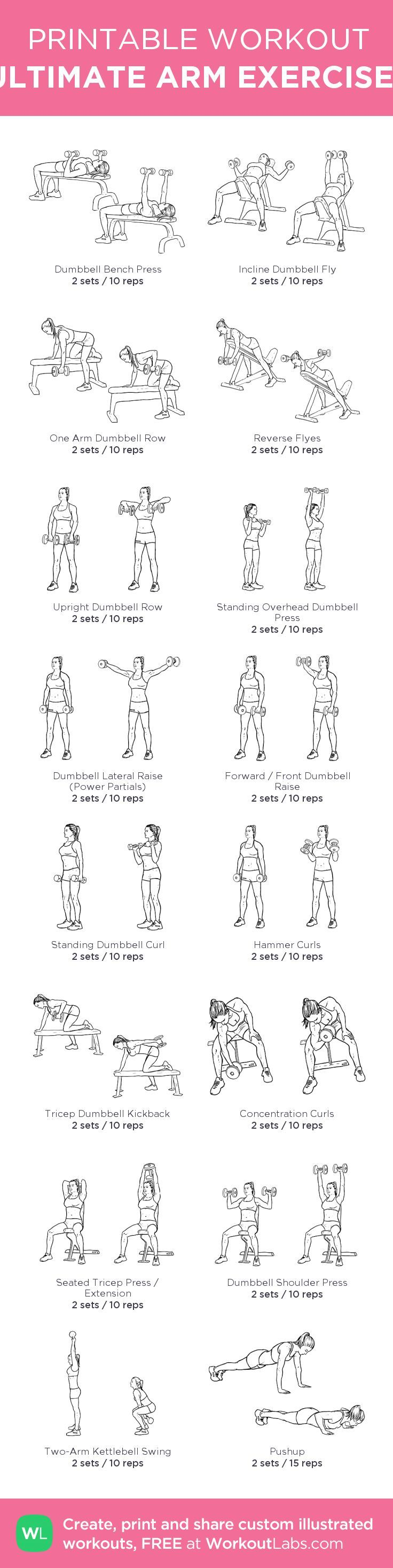 ULTIMATE ARM EXERCISES: my custom printable workout by ...