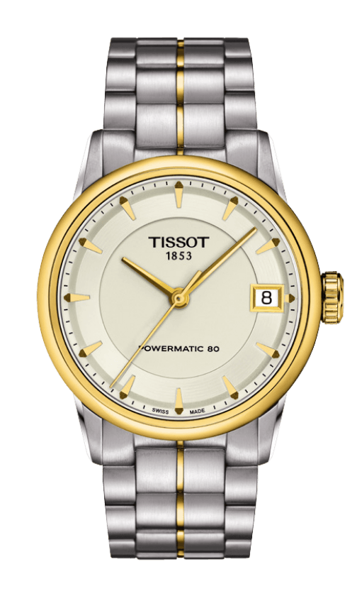 T086 207 22 261 00 Tissot Automatic Ivory Dial Two Tone Yellow Gold Pvd Stainless Steel Bracelet Womens Watches Tissot Watches