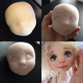 Padding for face structure. Sewing hands. - MyKingList.com #dollfacepainting