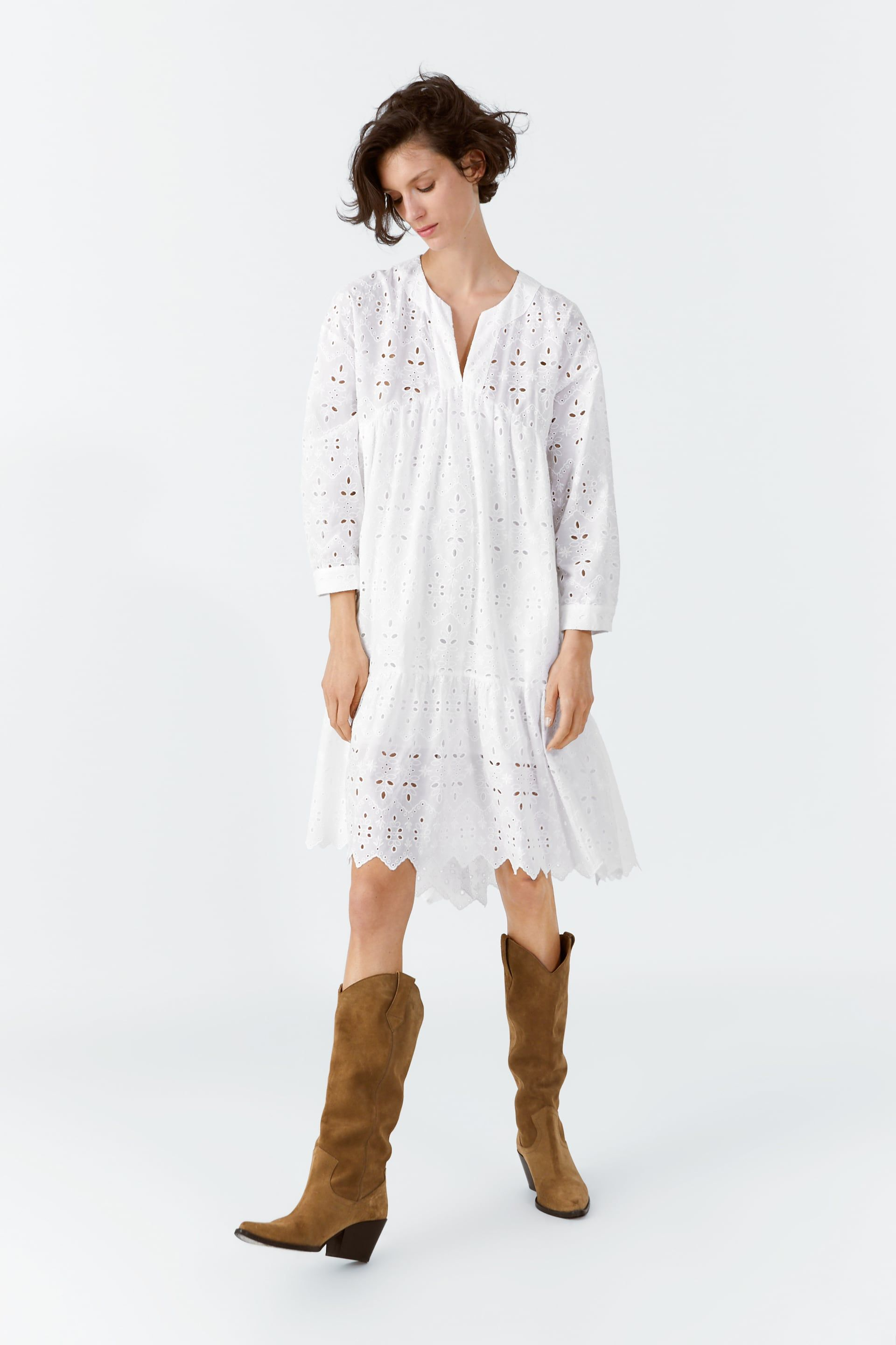ac5678e8b1 DRESS WITH CUTWORK EMBROIDERY - IT´S WHITE-SHOP BY COLLECTION-WOMAN