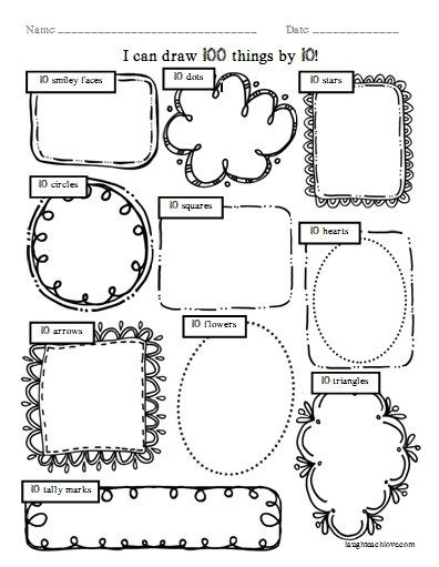 FREEBIE -- I can draw 100 things by 10 -- 100th Day of ...