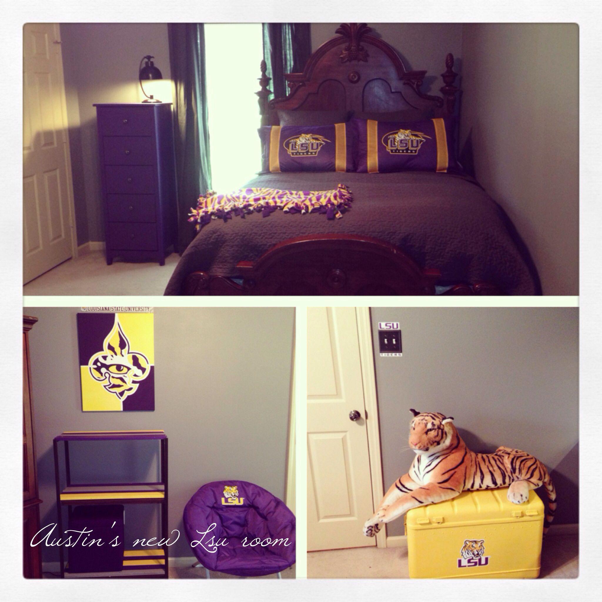 Lsu Room For Boys Done Right Lsu Mancave Pinterest Room Jpg 2048x2048 Lsu  Bedroom