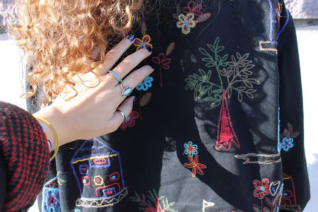 SELFTIMERS : Embroidered Fields... Oh Lawd, this jacket is so touchable.