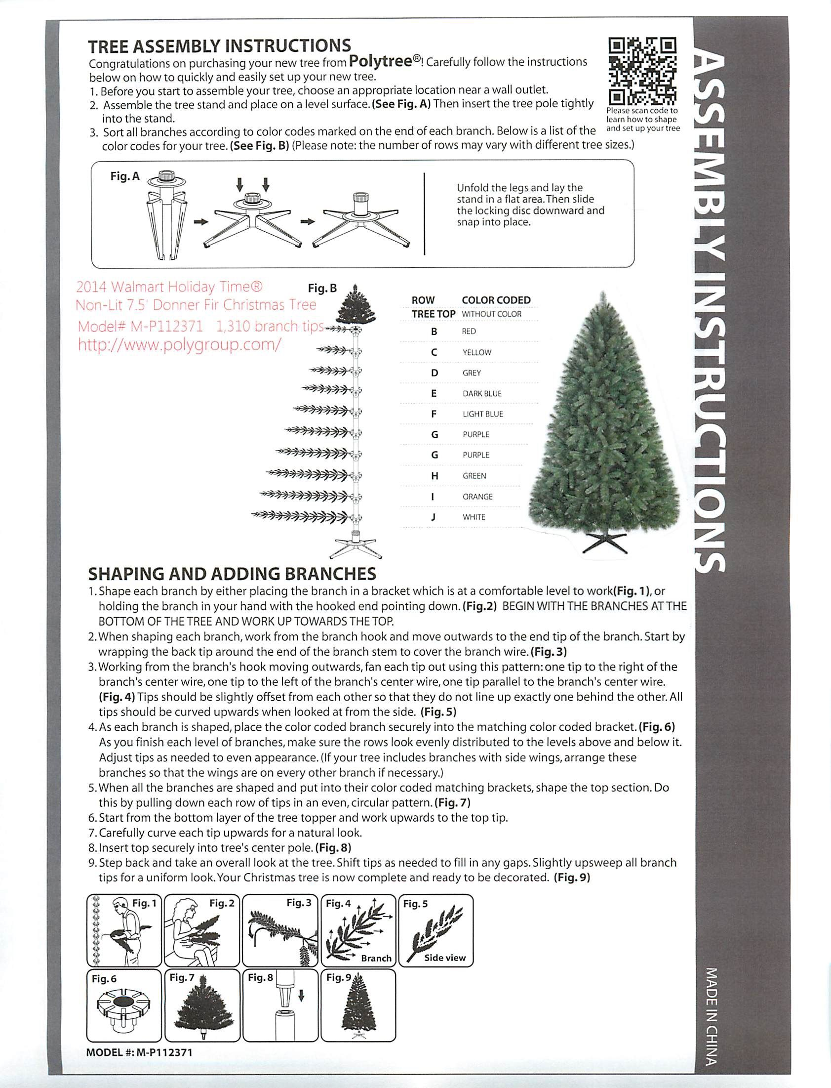 Artificial Christmas Tree Assembly Instructions So I Don T Misplace My Instructions Again 2014 Wa Fir Christmas Tree Christmas Entertaining Christmas Holidays