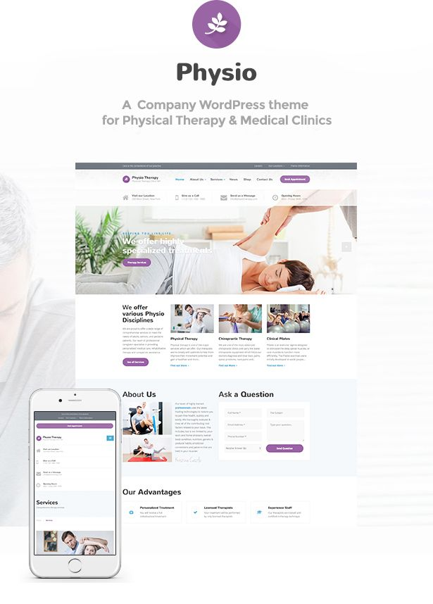Physio Physical Therapy Medical Clinic Wp Theme Therapy Amp Physio Physical Physical Therapy Physio Psychological Therapies