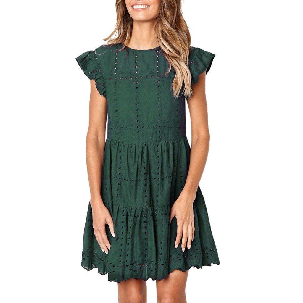 Ruched A-Line Mini Dress in 2020 | Kleider für frauen ...