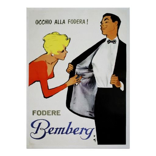 Vintage Italian men's fashion poster