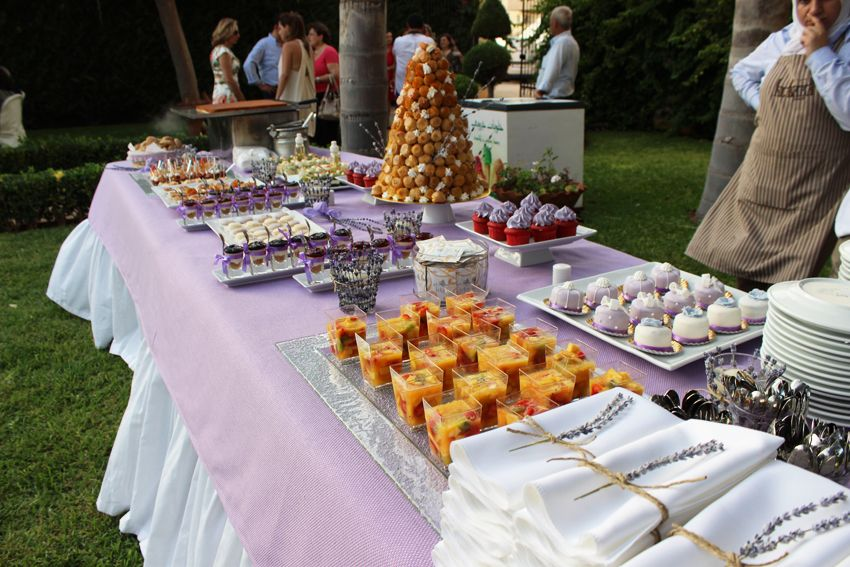 Al Baba Sweets Lavender themed reception #Albabasweets #Lavender #desserts #display
