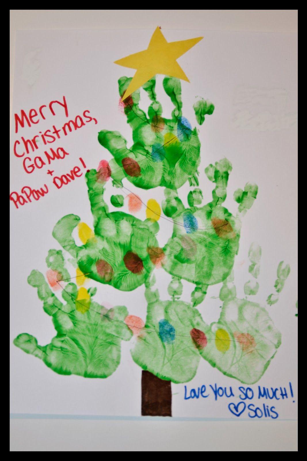 Solis Plus One Christmas Recap Christmas Crafts For Toddlers Handprint Christmas Christmas Crafts