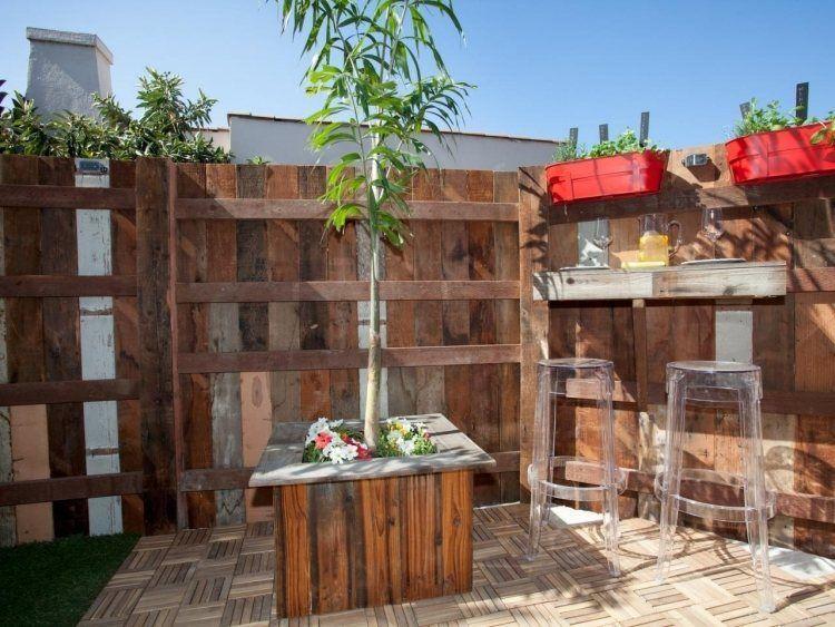 Bac à fleurs en bois à faire soi-même- plus de 52 idées DIY Gardens