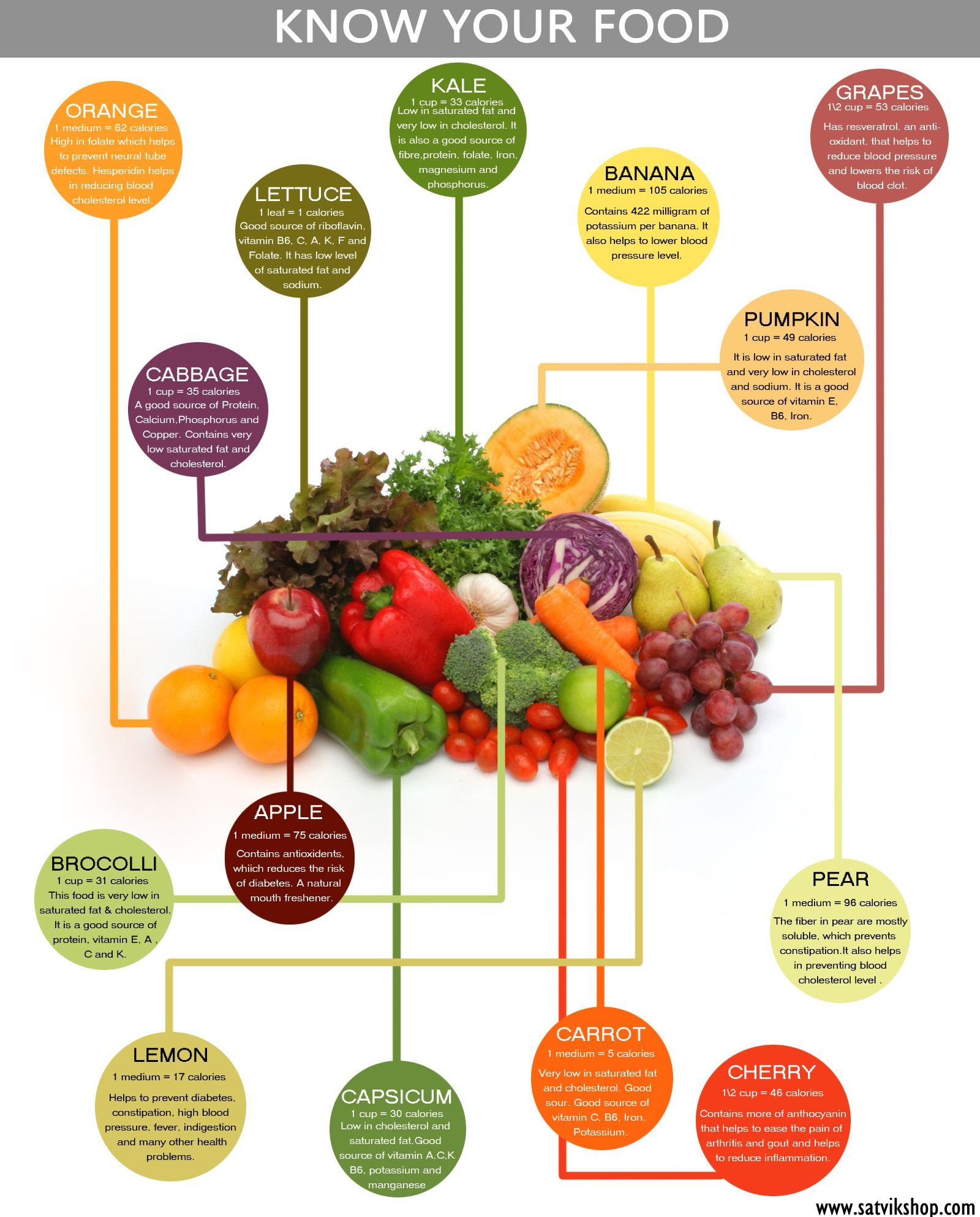 Know Your Food Infographic On Nutrients Found In