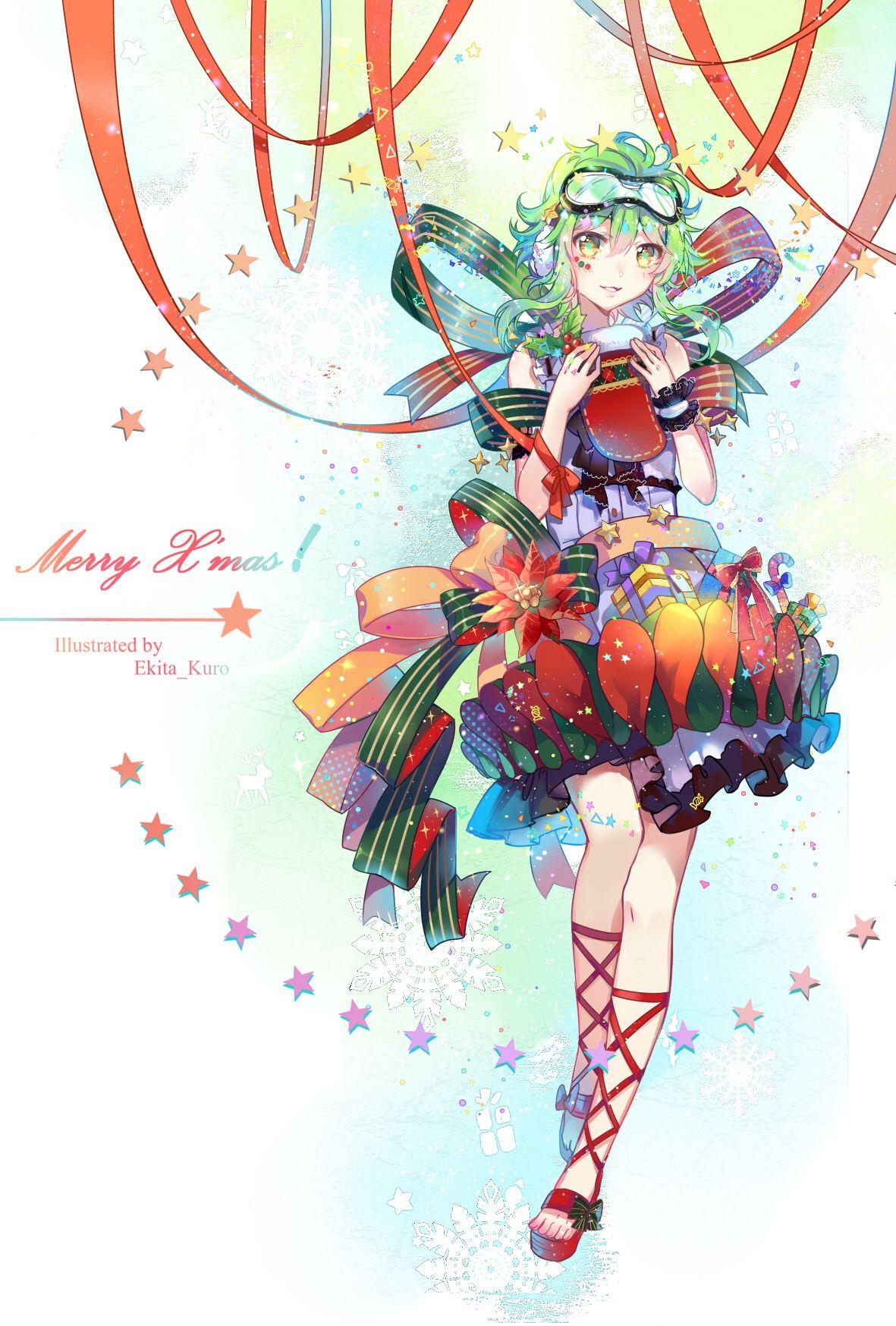 X'mas Miku by Ekita_Kuro Vocaloid, Anime, Anime art