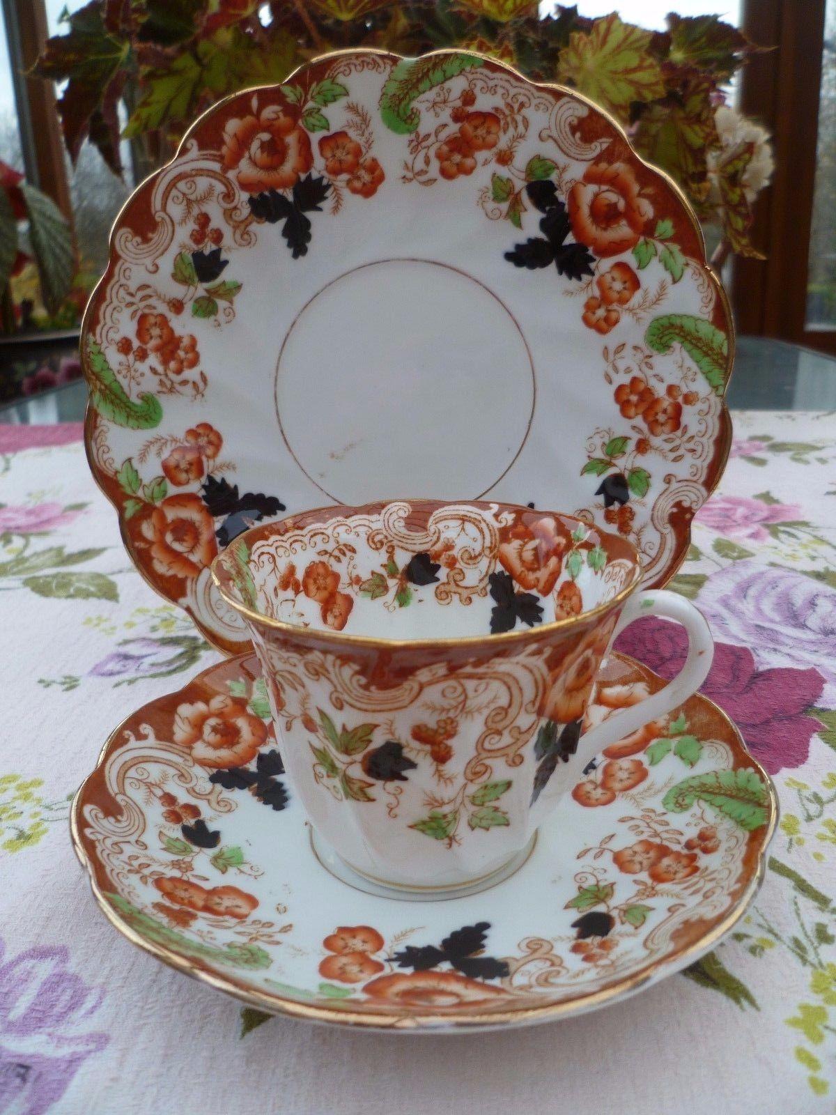 Lovely Vintage / Antique Royal Windsor China Trio Tea Cup Saucer Plate & Lovely Vintage / Antique Royal Windsor China Trio Tea Cup Saucer ...