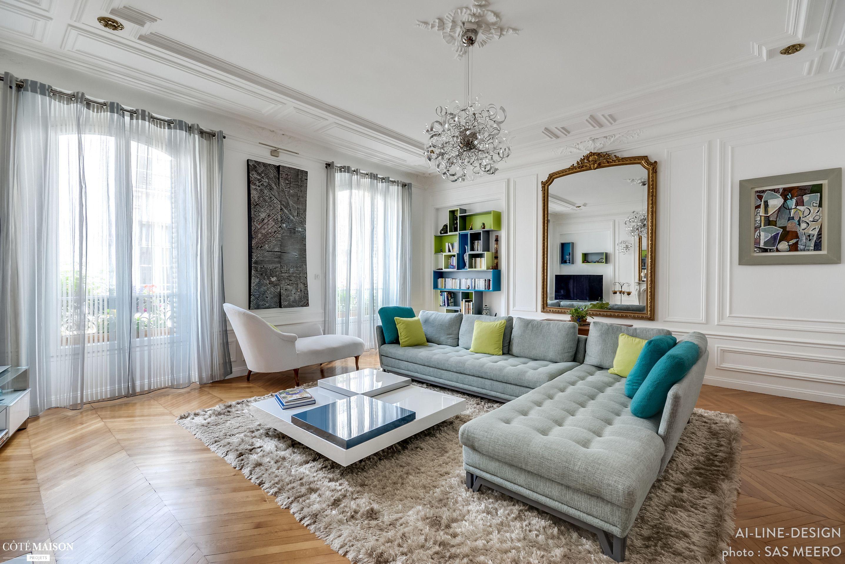Appartement rue du Fbg Poissonnière, Paris, AI-line-design ...